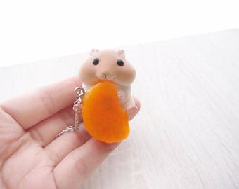 cute hamster 4 necklace