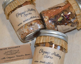 Organic Mulling Spices - Natural Organic Mulled Wine Spice Mix - Hot Apple Cider Spice Mix - Holiday Glog Mix - Best Ever Mulling Spices