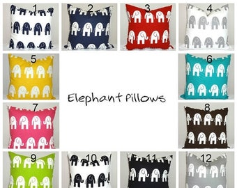 SPRING FORWARD SALE Elephant Pillow Covers Nursery Baby Boy Baby Girl Baby Shower Gift Pillow Cover 12 Colors Choose Size