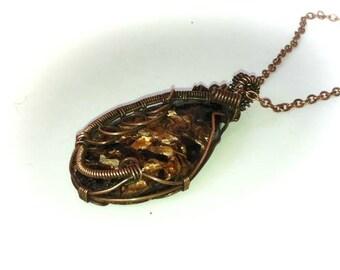 Sea Sediment Jasper Pendant Wire Wrapped Jewelry Jasper Jewelry Gemstone Jewelry