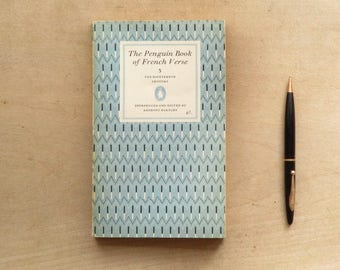 poetry book, The Penguin Book of French Verse from The Penguin Poets series -  vintage 1960s book