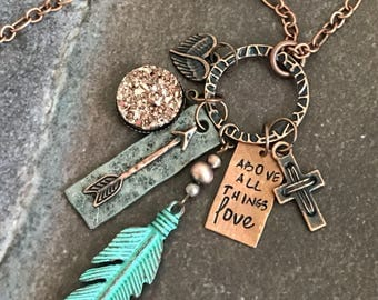 Above all things Love Necklace