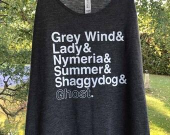 Game of Thrones // Direwolves of Winterfell // Ladies Racerback Tank Top (Black)