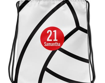 Personalized Volleyball Drawstring Bag