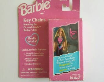 Barbie Doll Keychain, Ocean Friends Barbie, 1996 Mattel
