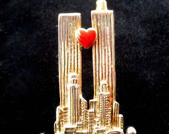 Vintage Twin Towers Pin New York City 911