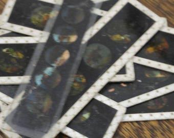 9 antique glass magic lanten slides