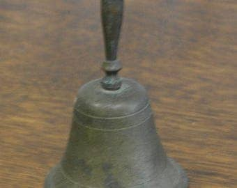 antique small brass hand bell