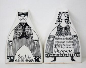 Vintage Figgjo Norway Salt & Pepper Shakers