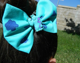 Sulley inspired fabric bow