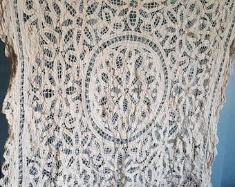 Vintage Lace Tablecloth, Lace, Tablecloth, Antique Lace