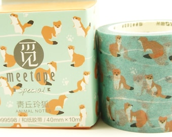 Fox - Japanese Washi Masking Tape - 40mm wide - 11 yard