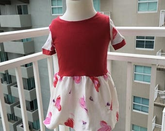 70% Off Red Heart Knit Dress Size 1