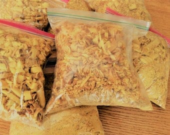 4 ounces of Osage Orange Wood Chips and Shavings for Natural Dye for Wool, Alpaca, Cotton Osage Dye, Natural Dye