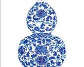 Clip Art for Erica Blue and White Ginger Jar no. 2 for use as button