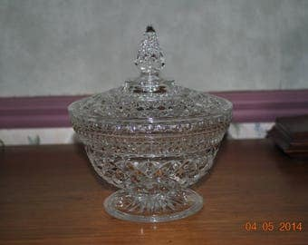 Anchor Hocking Wexford Candy Dish with Lid