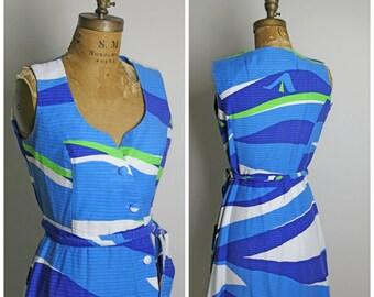 1950s Malia Honolulu Button Up Dress