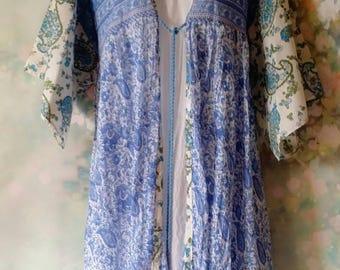 Boho Paisley Indian cotton Kimono/Robe