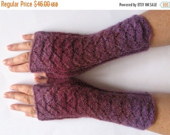 Fingerless Gloves Violet Purple Blue Turquoise wrist warmers