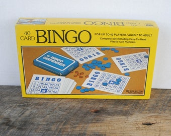Vintage Bingo 1981 Whitman Western Publishig Co Game