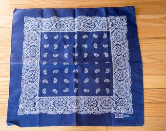 50s 60s Navy Fast Color Bandana 13960