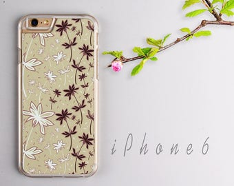 Floral iPhone 6 case, Clear iPhone 6s case - HTPC601