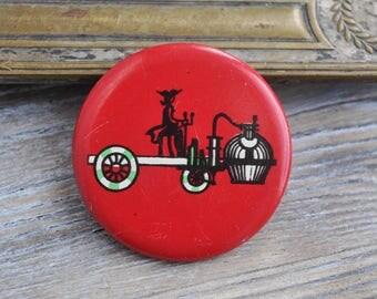 "Vintage USSR tin badge,pin.""Classic car,Oldtimer"""
