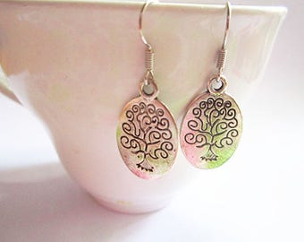 Tree of Life Earrings - Silver Tree Earrings - Nature Tree Earrings
