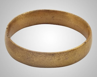 Authentic Ancient Viking  wedding Ring, medieval ring, wedding band, wedding ring  C.866-1067A.D. Size 11 1/2   (21.2mm)(Brr1019)