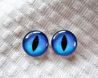 Blue glass eyes, Blue cat eyes, eyes, Blue Glass cat eyes