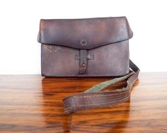 Vintage Small Brown Leather Satchel Bag, Alb Kundig Sattler Gruningen German Handbag Purse, Bicycle Saddle Luggage, Birthday Gift Ideas