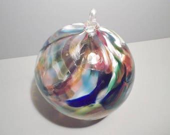 Large Sculpture Hand Blown Glass Ball