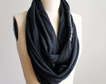 Black whip infinity scarf