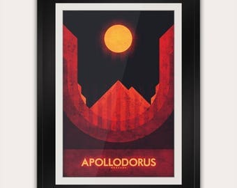 Space Travel Poster - Mercury - Apollodorus