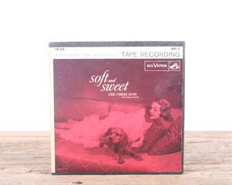 Vintage RCA Soft and Sweet The Three Suns / Magnetic Recording Tape / Sound Tape / Audio Recording Tape / Audiophile Gift Music Decor