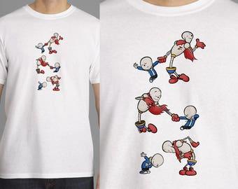 "Undertale / Calvin & Hobbes T-Shirt - ""Sans and Papyrus"""