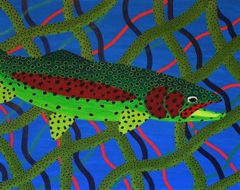 Rainbow Stripes  - Fine Giclee Print