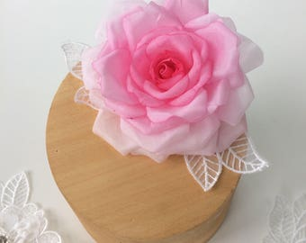 Pink Rose Hair Adornment