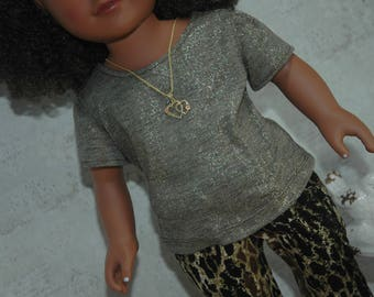 american, made, girl, doll, 18 inch doll, clothes, tee shirt, top