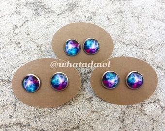 Galaxy stud earrings