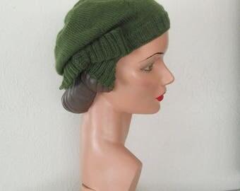 Beret PDF Knitting Pattern Jaunty Beret Vintage 1930's Downton Abbey Hat