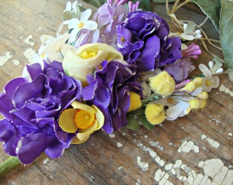 Antique Vintage Velvet Millinery Flowers Posy - #106
