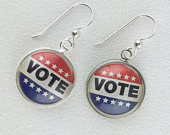 Vote Earrings Vote Jewelry Get Out the Vote E107