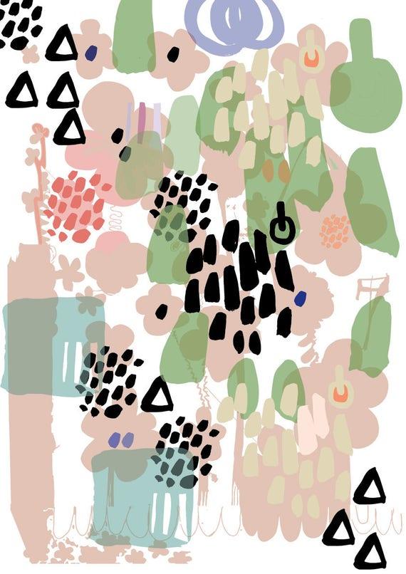 Spring A3 wall art Print.  Poster. Illustration. Wall Decor. Gift