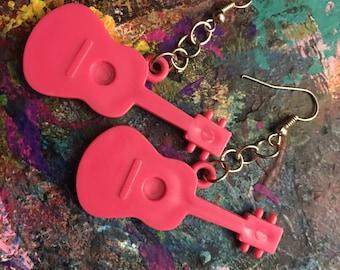 Punk Rock Guitar Earrings