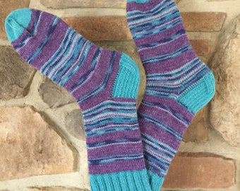 Purple and Blue socks