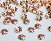 50 Rose Gold Bead Caps 4 four leaf clover flower bead caps 7.5x7.5mm PD348-05RG
