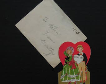 Vintage Antique Valentine's Day Card 1930's / Valentine Wanted / Carrington Co.