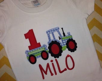 Tractor Birthday Shirt (1st Birthday or any age)