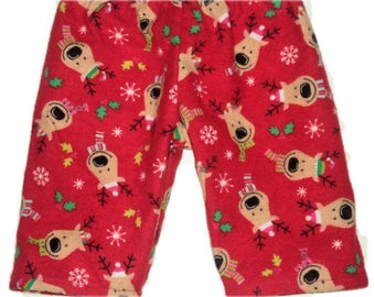 Reindeer Pajama Pants, Kid Pj Pants, Flannel Pants For Boy, Girl, Toddler Or Baby, Childrens Winter Pajama Pants,  Made To Order